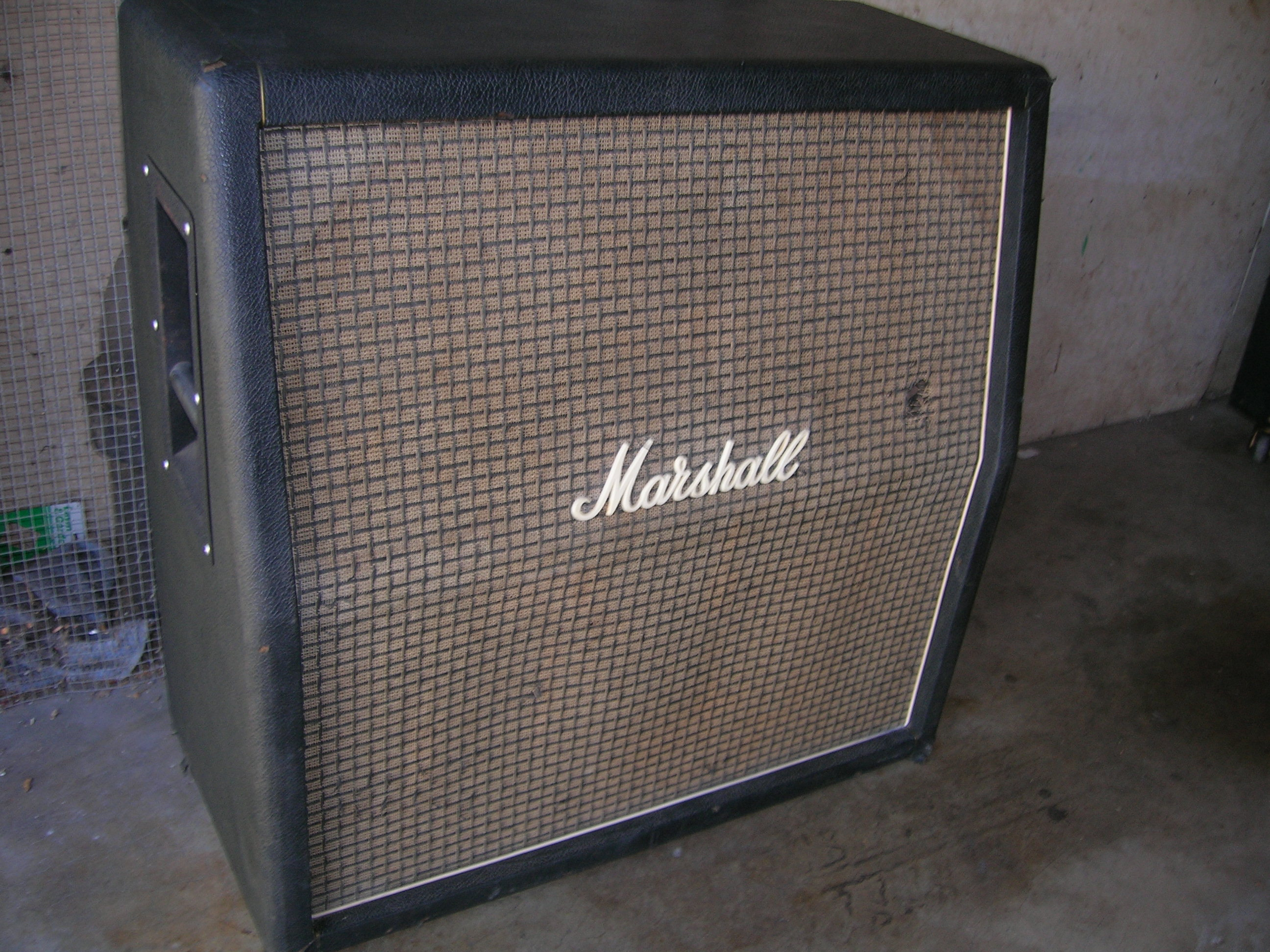 1969 Marshall 1982b Cab With 30w G12h 55hz And The Lovely 100 Logo