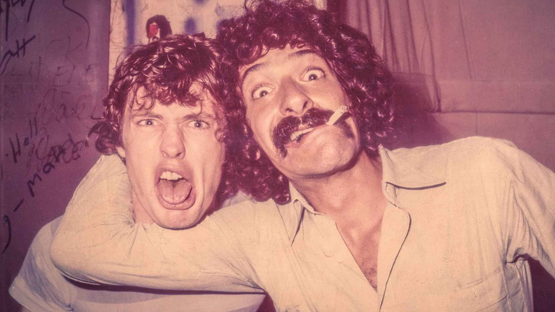 Angus Young with Ken Schaffer, NYC 1978
