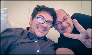 """Franz """"Banane"""", Product Manager of The Schaffer Replica, and friend Fil SoloDallas"""