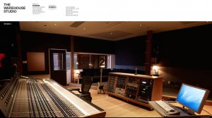 The famous control room with the Neve console. You can see the corridor where we walked going into the recording room.
