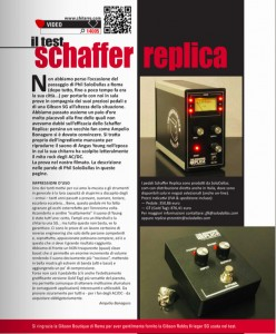 The Schaffer Replica Cover Story, Chitarre, Italy