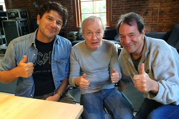 Fil Olivieri, Angus Young and Ken Schaffer (2014)