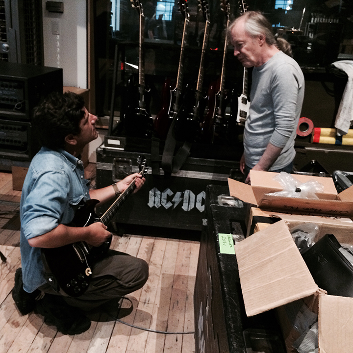 Filippo Olivieri and Angus Young 2