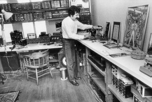 Ken Schaffer in his shop in the late 1970s.
