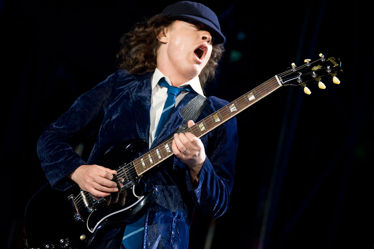 AC/DC Angus Young by Tyler Crothers (Guitar Heaven, Germany)