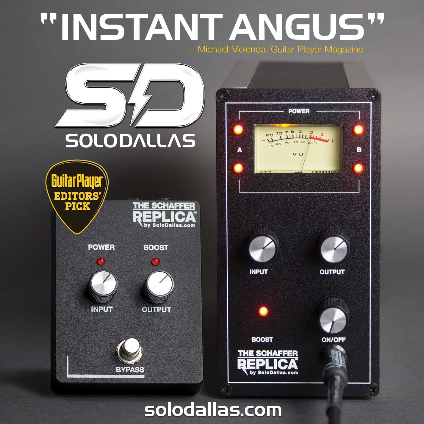 The Schaffer Replica By Dallas Rangemaster Pedal Wiring Diagram Solodallas Guitarplayer Ad July2015 Sq